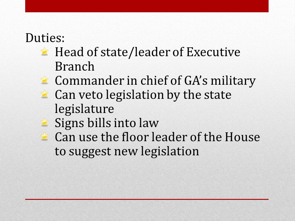 roles of a military leader The president of the united states has seven roles in his job all military generals and admirals take their orders from the president legislative leader.