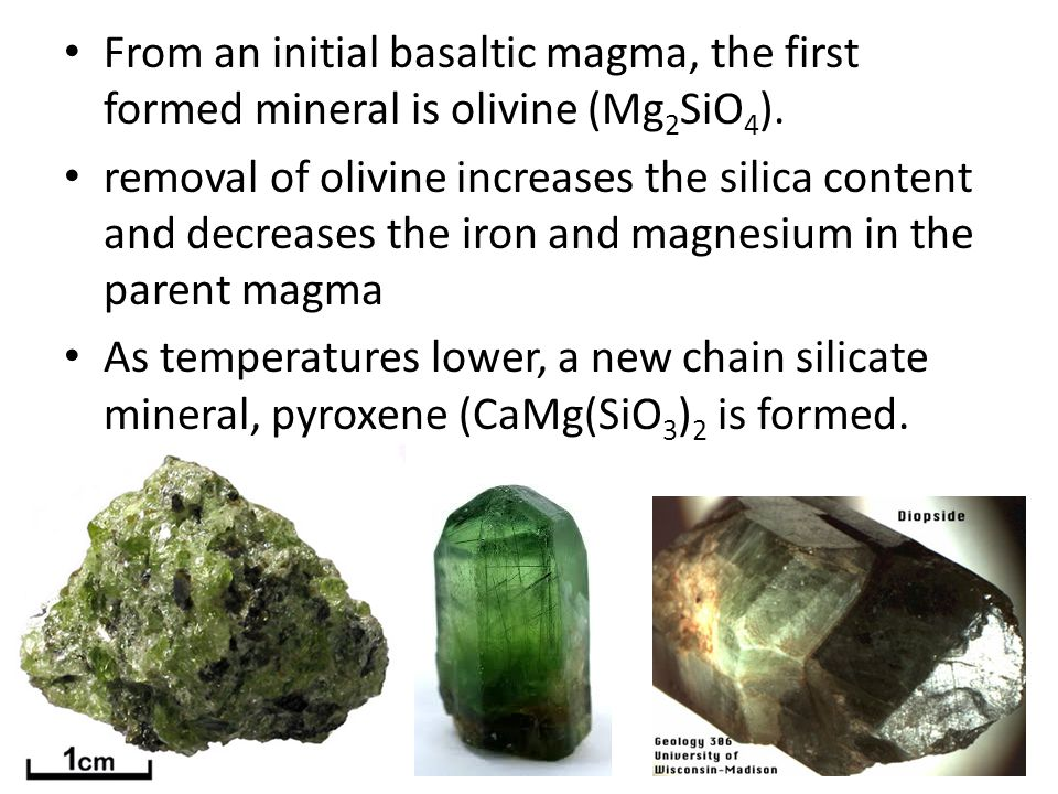 Basalt Silica Content Of : Bowen s reaction series ppt video online download