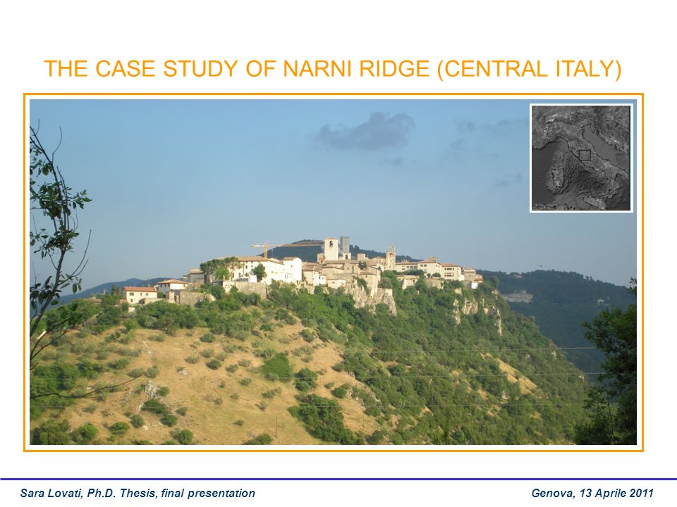 THE CASE STUDY OF NARNI RIDGE (CENTRAL ITALY)
