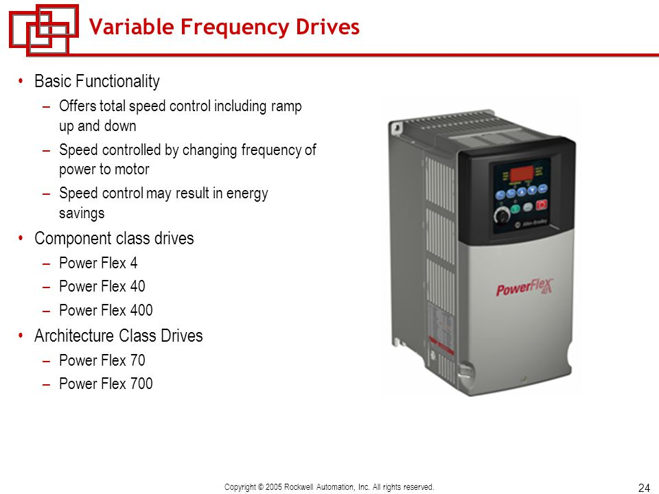 Motor starting technologies ppt video online download for Variable frequency drive motor