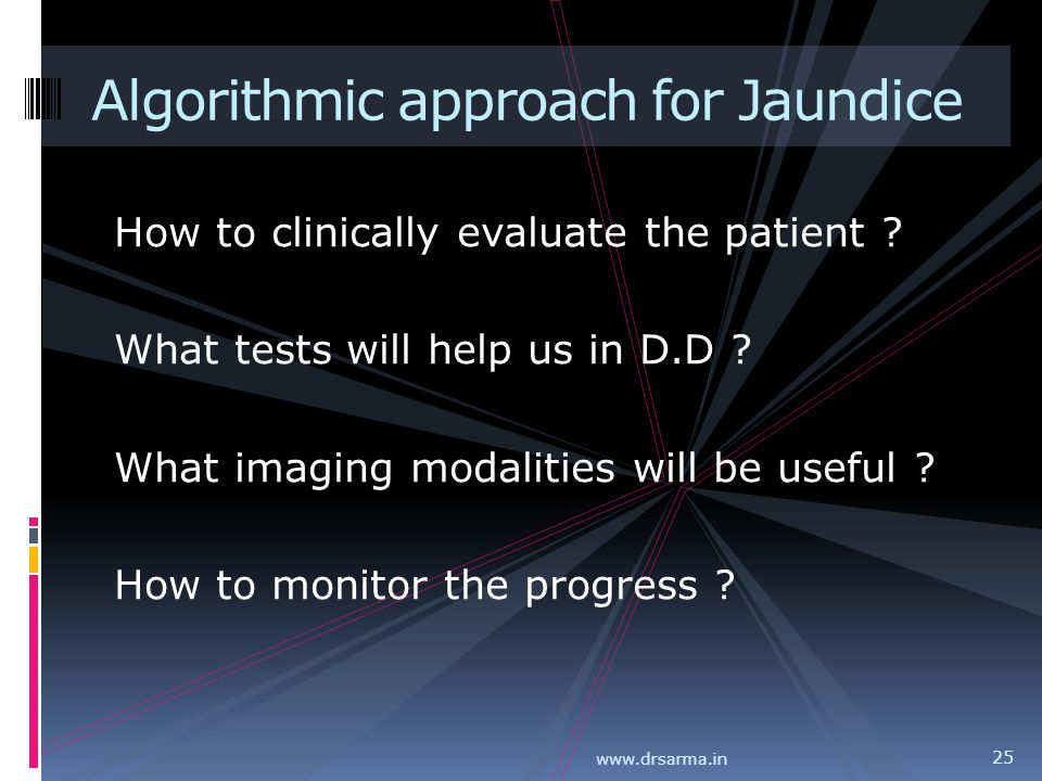 Algorithmic approach for Jaundice