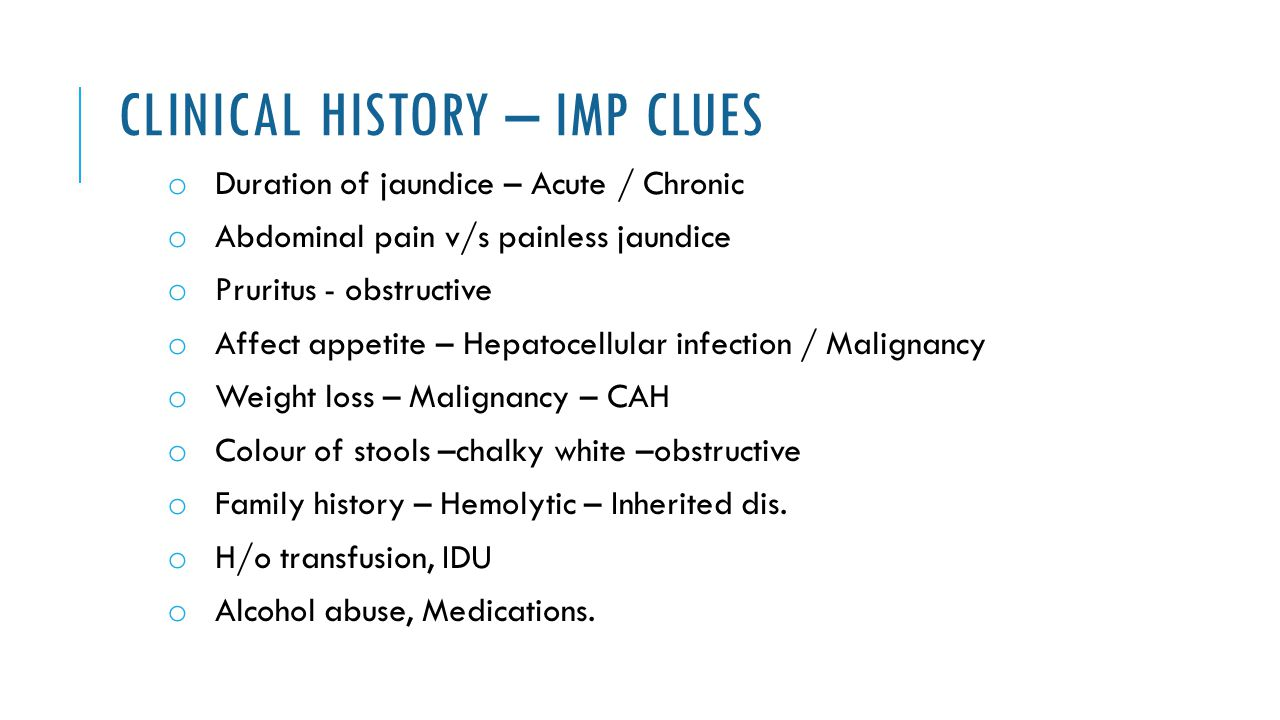 Clinical History – Imp clues