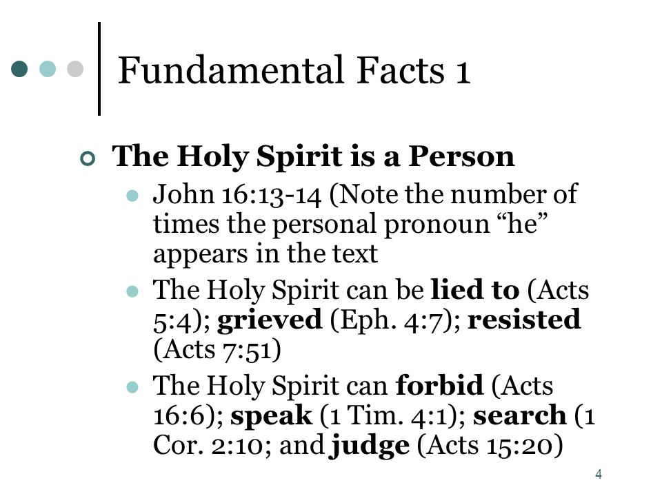 Lesson 7 The Holy Spirit.
