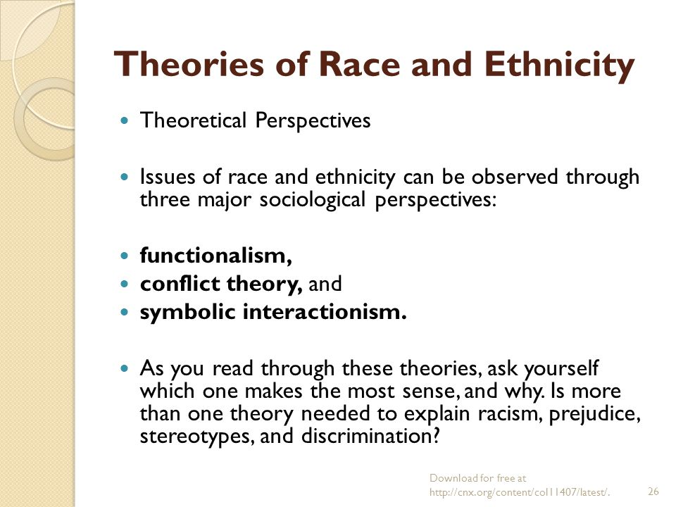 Sociological Theories of Prejudice and Racism