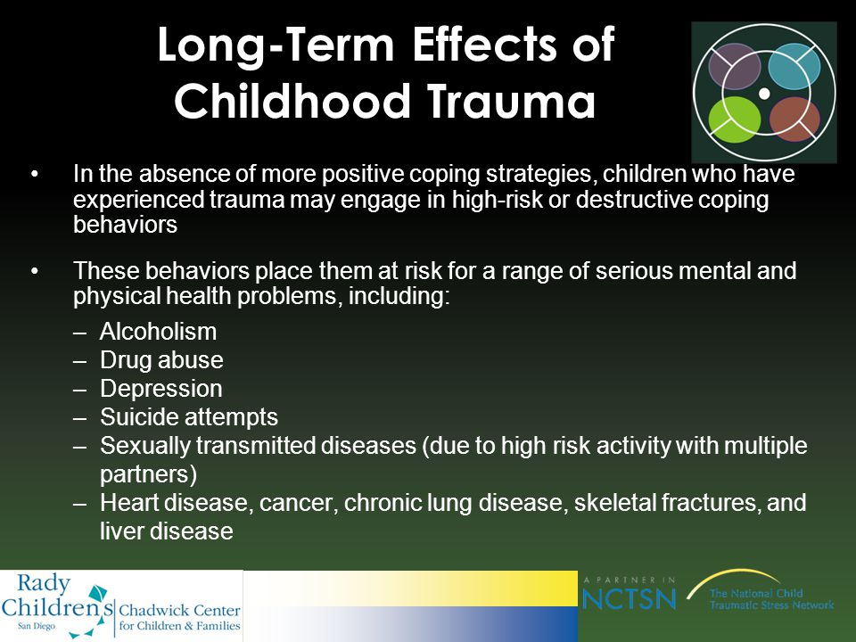 a look at the long term effects of physical child abuse A better understanding of the long-term health effects of child other mental health disorders associated with child physical abuse  for physical abuse.