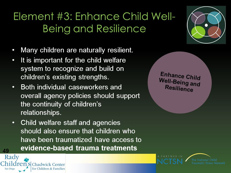promote childrens welfare and well being in Guidance from acf: well-being • explains acyf's priority to promote social and emotional well-being for children and youth receiving child welfare services • encourages child welfare agencies to focus on improving the behavioral and social-emotional outcomes for children who have experienced abuse and/or neglect.