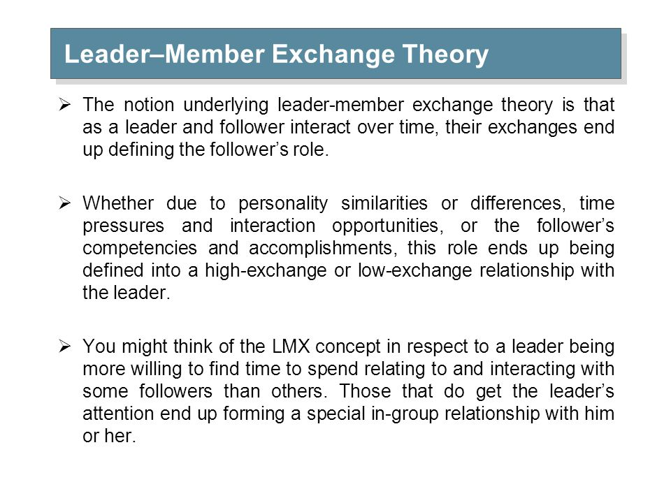 lmx theory application