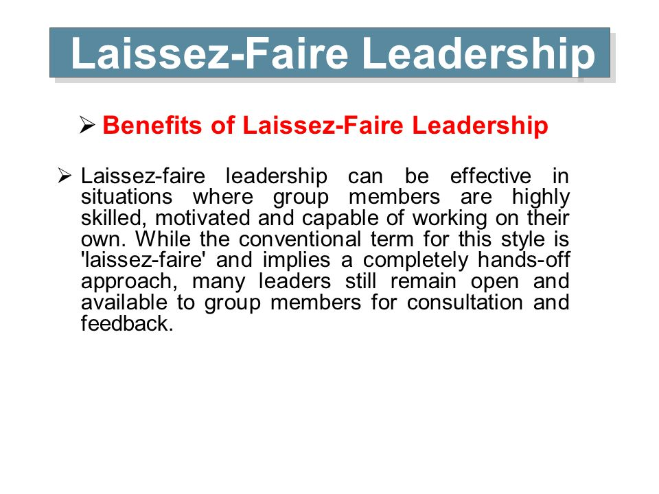 laissez faire essays Some essays represent widespread norms others only represent minority viewpoints laissez-faire wikipedia:laissez-faire is not particularly objectionable.