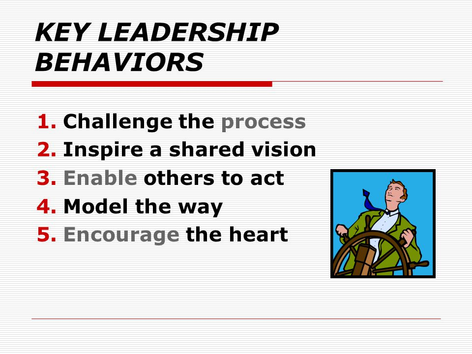 KEY LEADERSHIP BEHAVIORS