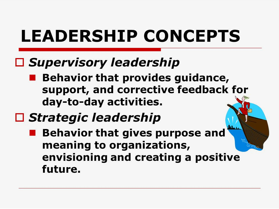 LEADERSHIP CONCEPTS Supervisory leadership Strategic leadership