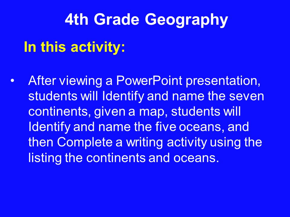 Continents and Oceans Lisa Oberholtzer. - ppt download