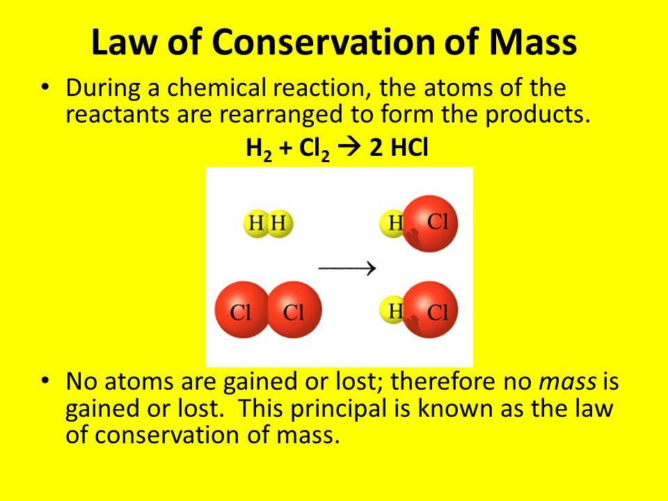 law of conservation of mass amp balancing equations ppt