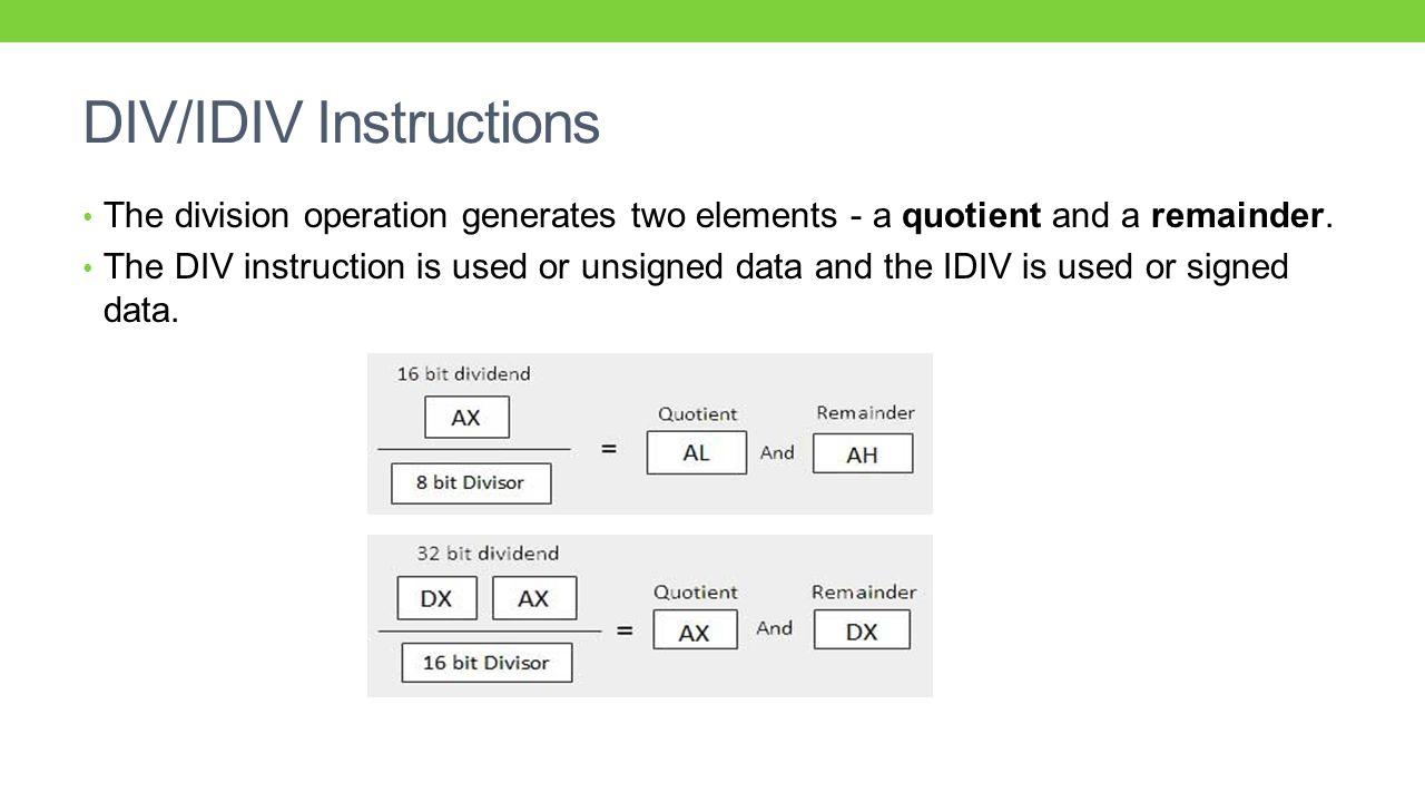 Assembly Language Programming Tutorial - 50 - DIV ...