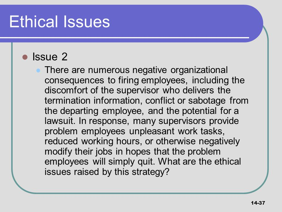 Ethical Issues Issue 2.