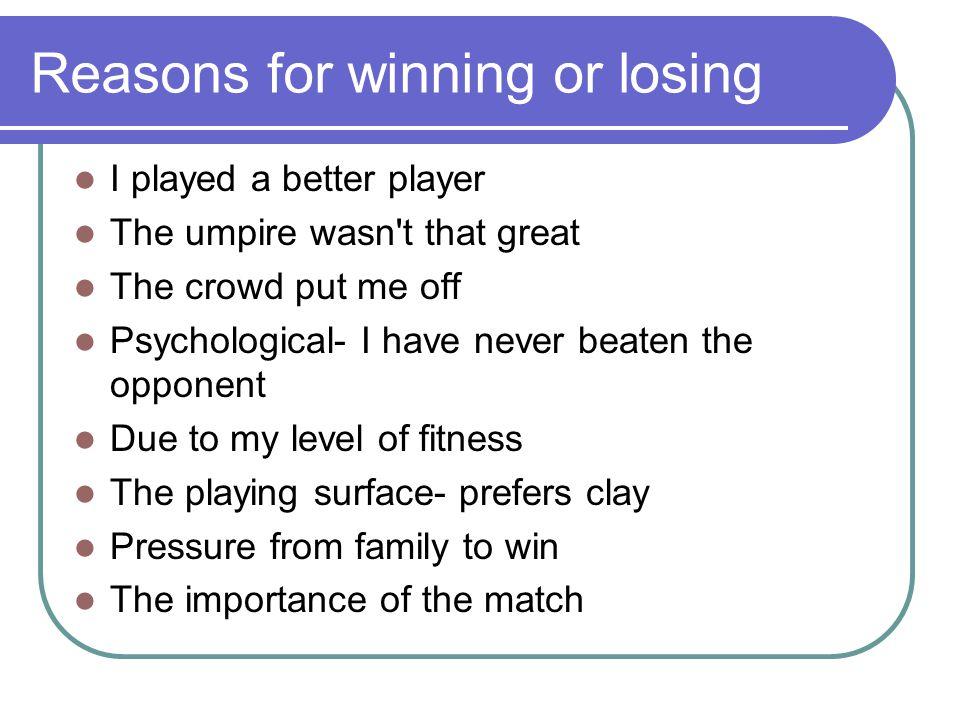 essay for winning or losing
