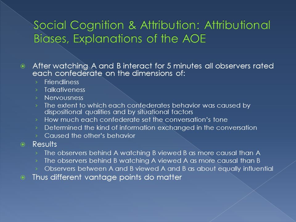 an analysis of the causal attribution model in social cognition Lecture 04 - social psych social perception/ attribution  a kelley argues that when we make causal attributions we analyze information essentially the same way.
