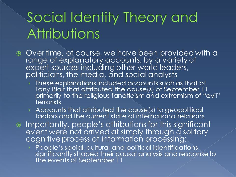 stereotyping and social identity theory New media & social identity theory 1 vs 2 introducing social identity theory re-defining our 'social' self 3 what why  stereotyping, etc why is it.