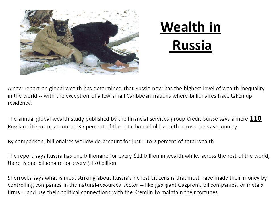 Wealth in Russia