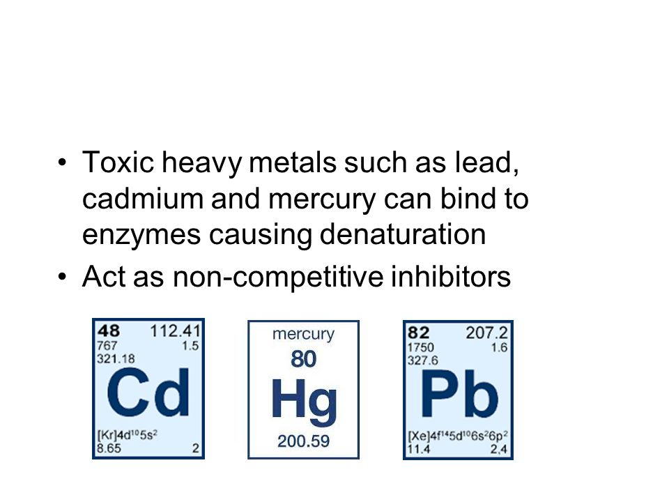 enzyme and heavy metals essay The effect that copper sulphate has on  heavy metals tend to be non-competitive inhibitors, which means that they inhibit the action of the enzyme-controlled.
