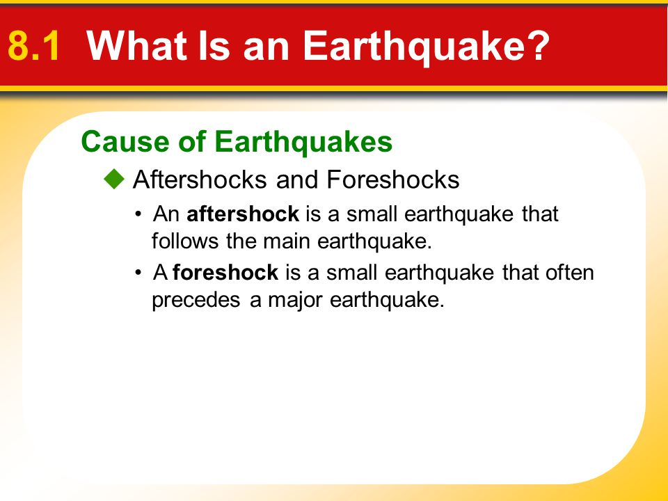 Aftershock Earthquake Diagram 8.1 What is an ...