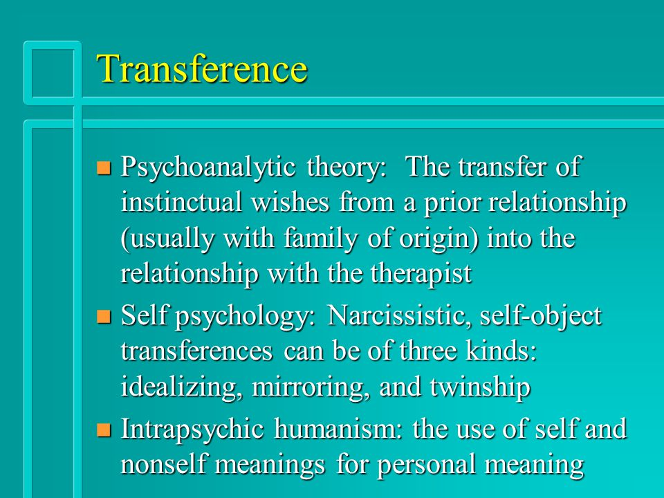 therapist patient relationship transference in psychology
