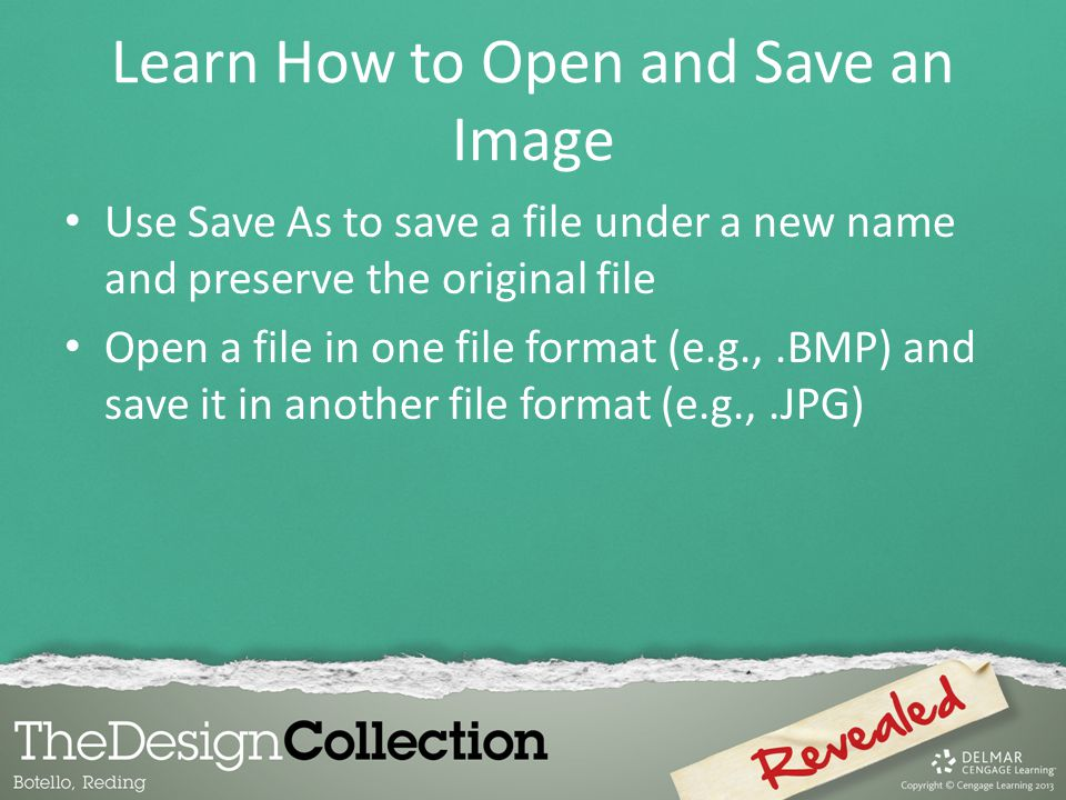 Learn How to Open and Save an Image