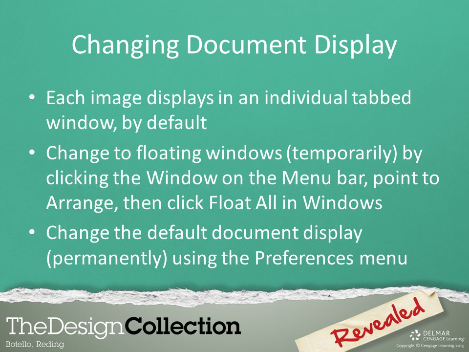 Changing Document Display