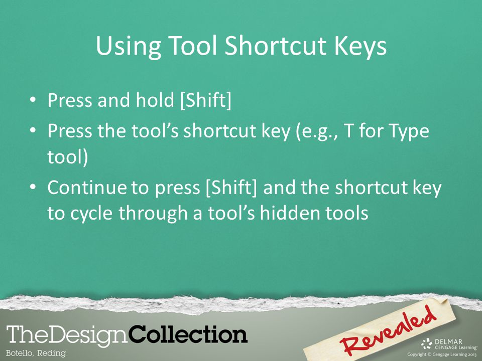 Using Tool Shortcut Keys