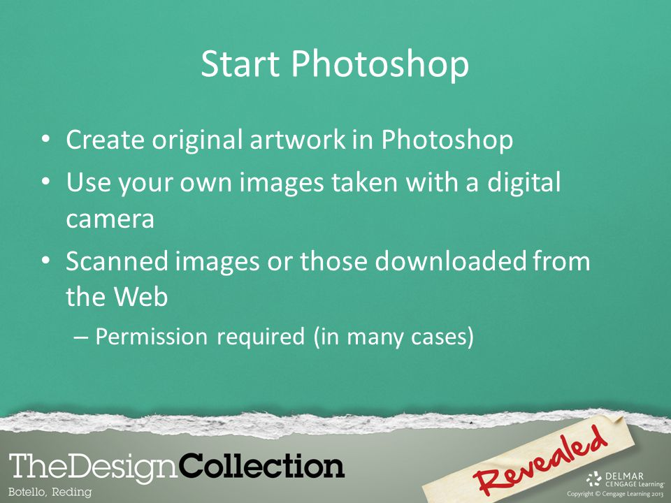 Start Photoshop Create original artwork in Photoshop