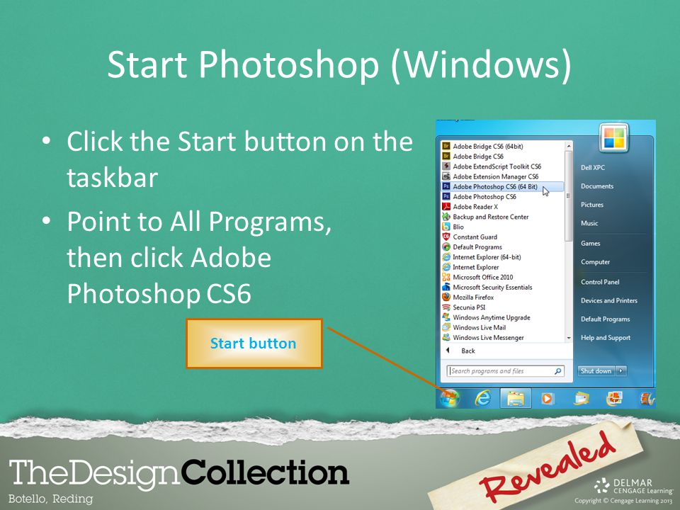 Start Photoshop (Windows)