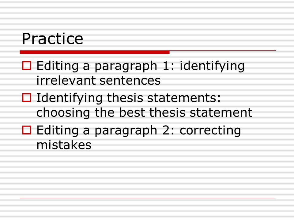 How to Write a Thesis Statement  Communication Studies