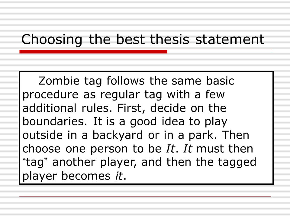 "statement thesis whats A ""thesis"" is used to refer to a long piece of writing completed by a student as part  of a university degree, based on his own research so, basically, thesis is a."