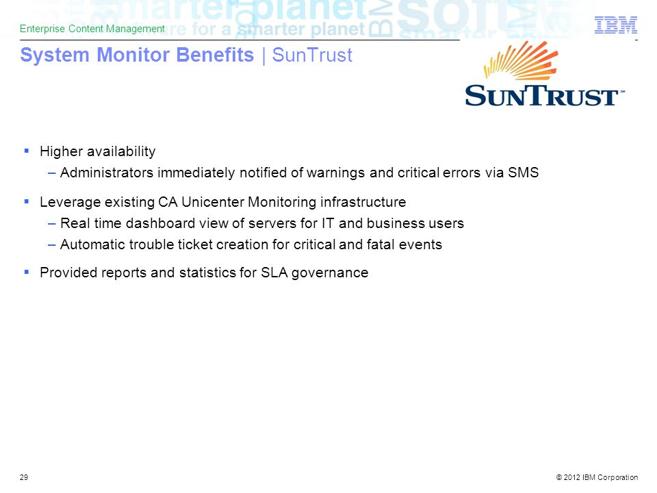 Advantages Of Internet Monitor System : Ibm software solutions enterprise content management