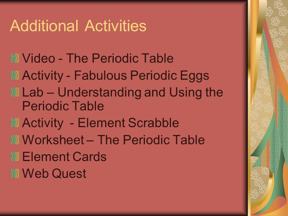 Vocabulary and notes 8th grade science ppt download periodic table element cards web quest additional activities urtaz Gallery