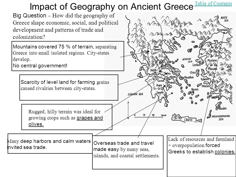the effect of geography on greek Eratosthenes, an ancient greek scholar and head librarian of the great library at alexandria, is known today as the father of geography.