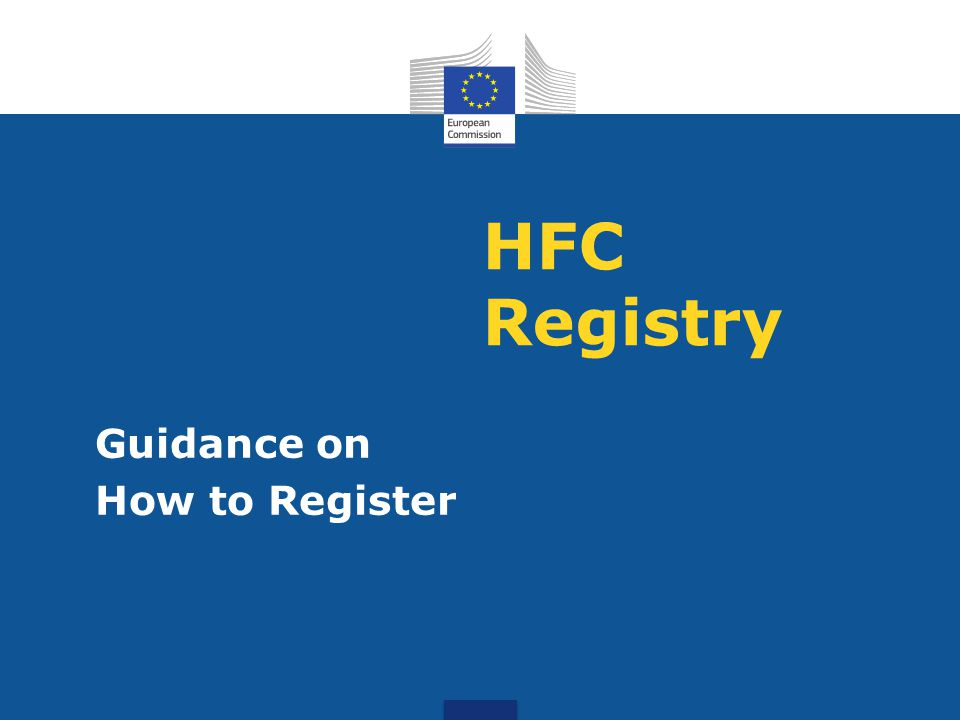 HFC Registry Guidance on How to Register