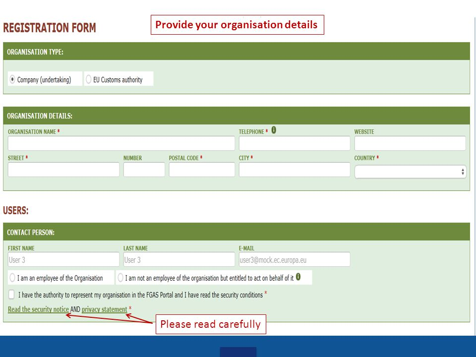 Provide your organisation details