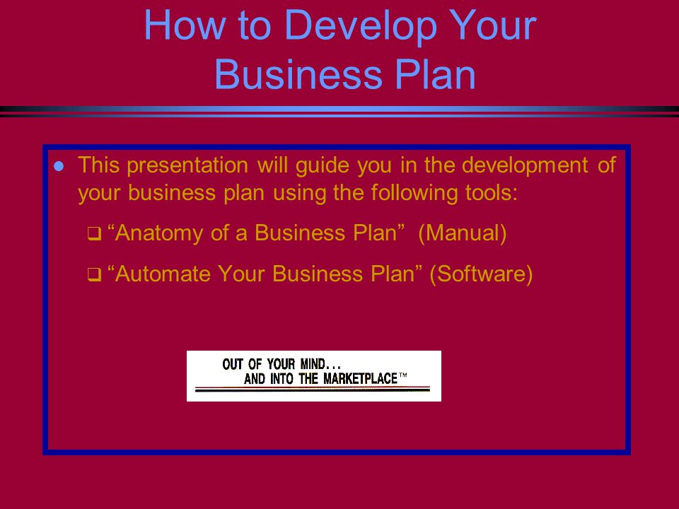 How To Develope A Business Plan