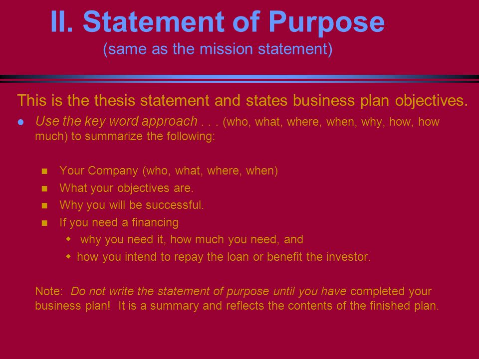 business entrepreneur statement of purpose The importance of your entrepreneurship statement of purpose if you are applying for a place on a business management program or entrepreneurship then you will want to ensure that your application can make you stand out from the many others that are applying.