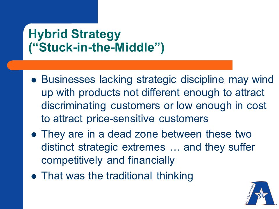 Generic vs. hybrid competitive strategies