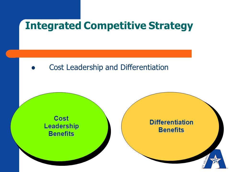 integrated cost leadership differentiation Its mission statement indicates a cost leadership strategy however, the company is also applying an indirect differentiation however, the company is also applying an indirect differentiation strategy due to its unique way of incorporating the customer in the value chain.