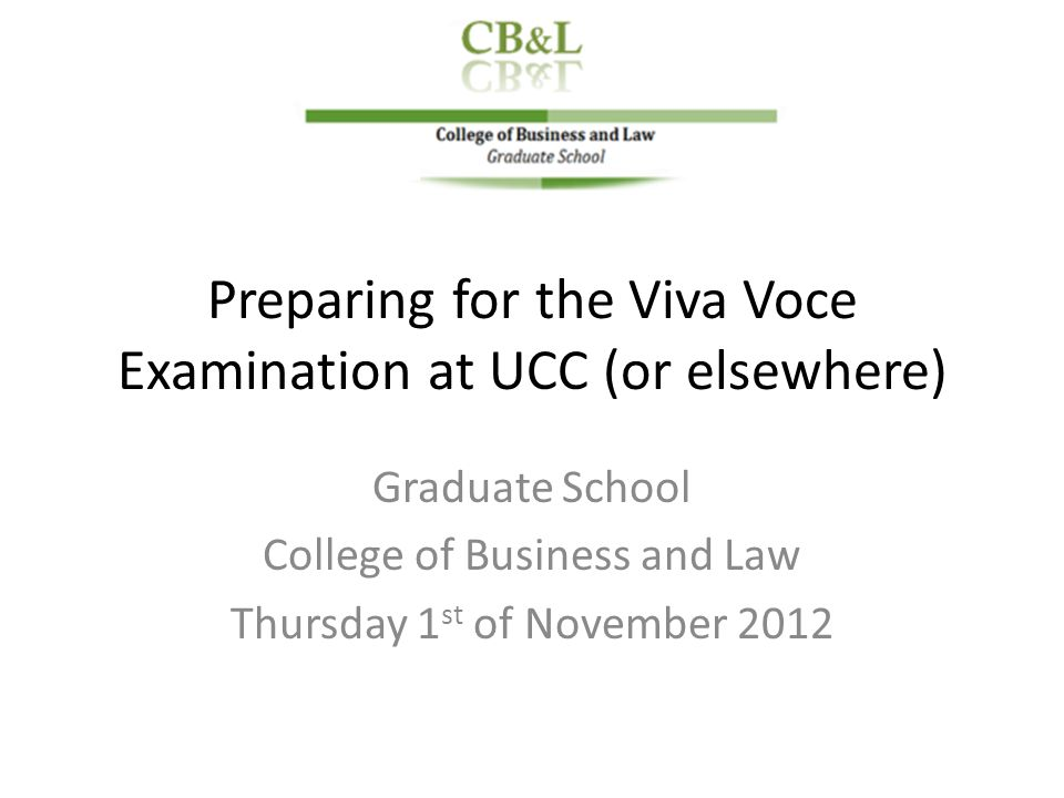 preparing for viva voche Preparing for a new type of communication event  for help in preparing effective viva answers, see how to survive your viva,.
