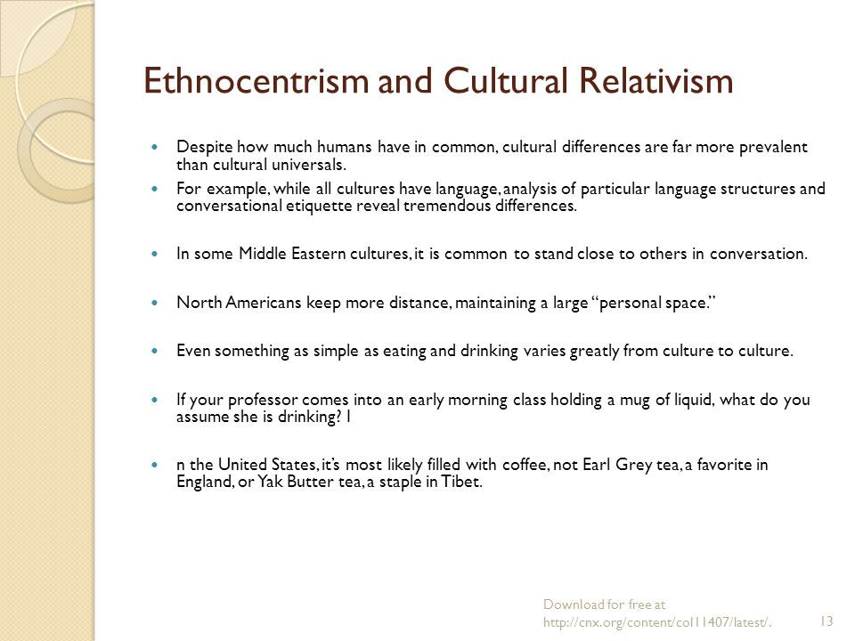 ethnocentrism culture and united states Ethnocentrism is the term used to describe the phenomenon of people from a certain group seeing all other groups in comparison to their own as the ideal.