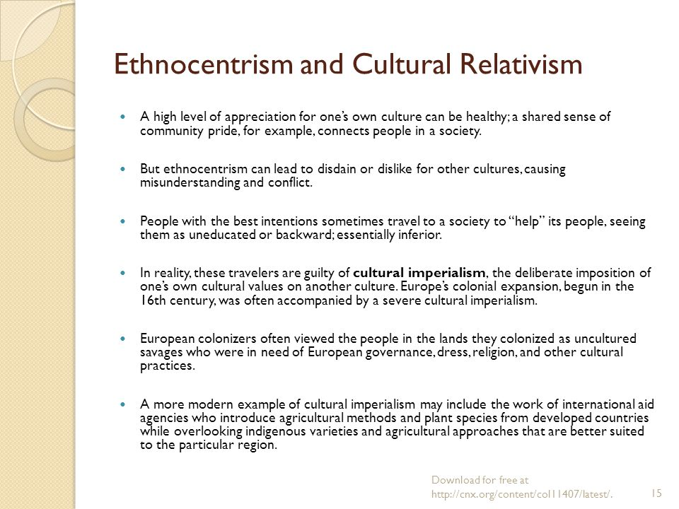 ethnocentrism in cultural misunderstanding Certain positions of cultural relativism in modern ethnography have been arguing  of intercultural understanding and translation5 even though recent studies.