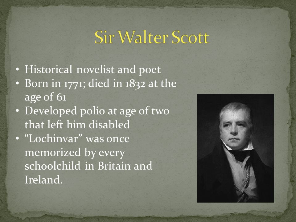 a biography of sir walter scott a historical novelist Sir walter scott and kenilworth castle: ruins  by sir walter scott (1771-1832), is historical fiction set at the time of queen elizabeth's  sir walter scott.