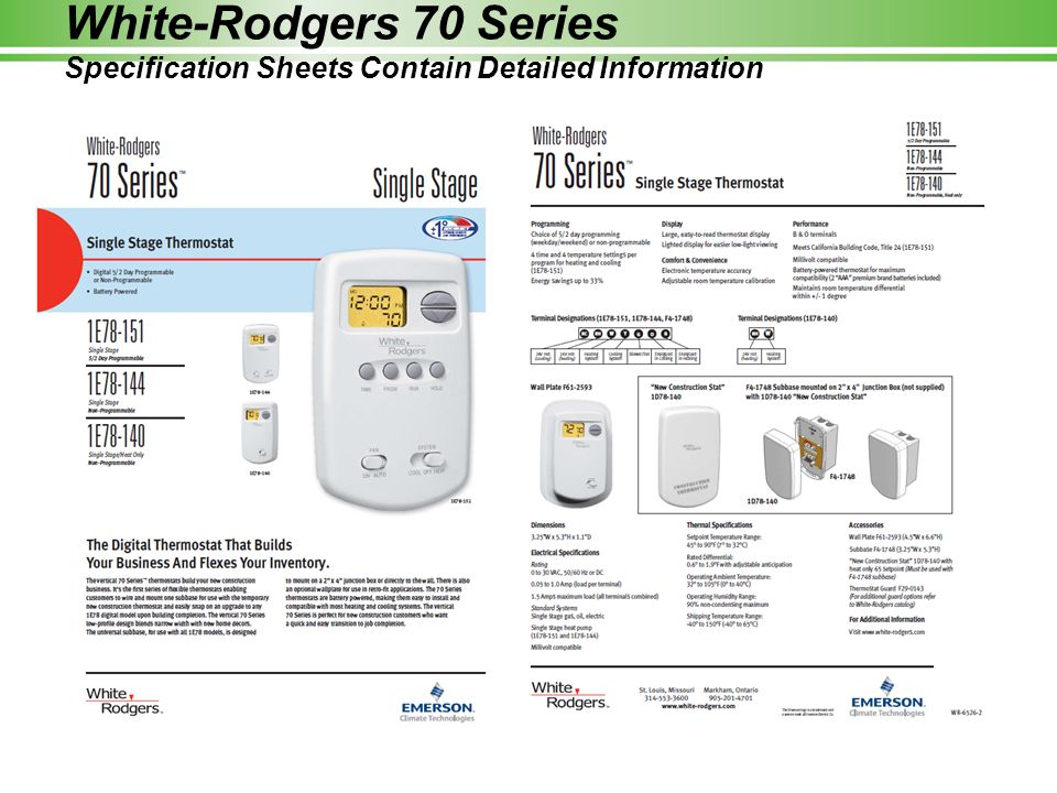 White Rodgers Thermostat Model 1e78 140 Wiring Diagram : White rodgers thermostat e wiring diagram