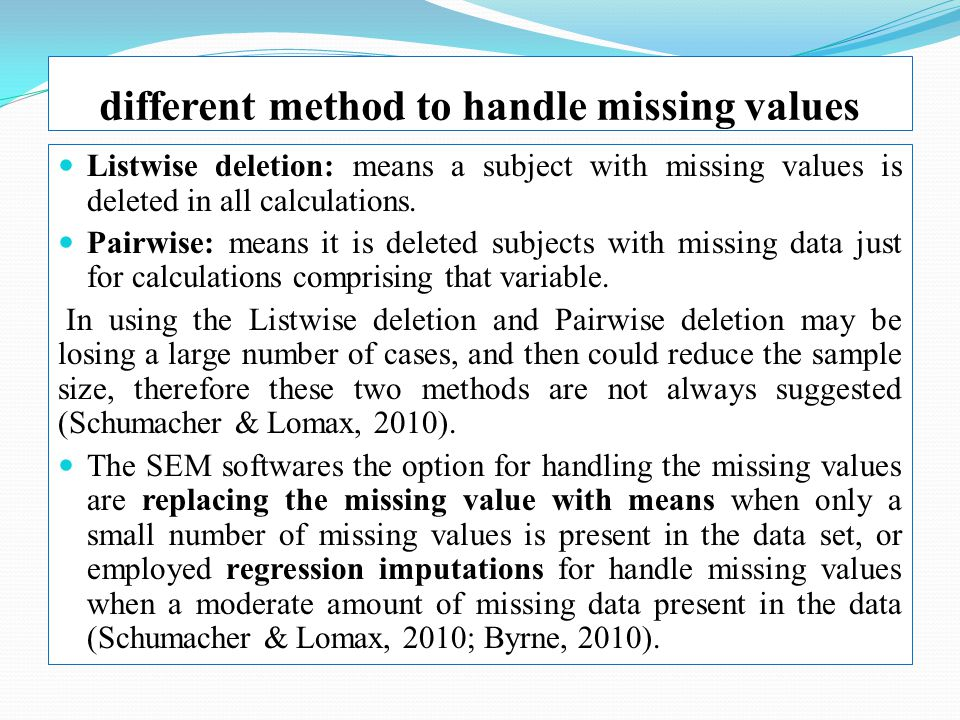 statistical techniques for handling missing data The simplest strategy for handling missing data is to remove records that contain a missing value we can do this by creating a new pandas dataframe with the rows containing missing values removed pandas provides the dropna() function that can be used to drop either columns or rows with missing data.