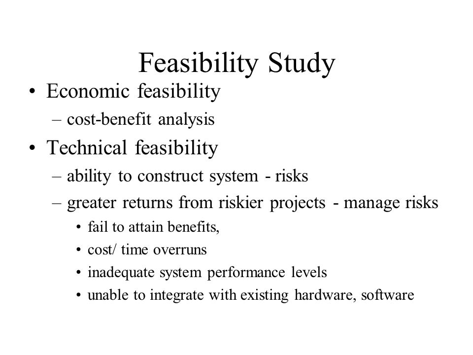 Feasibility Study Economic Feasibility Technical Feasibility Ppt