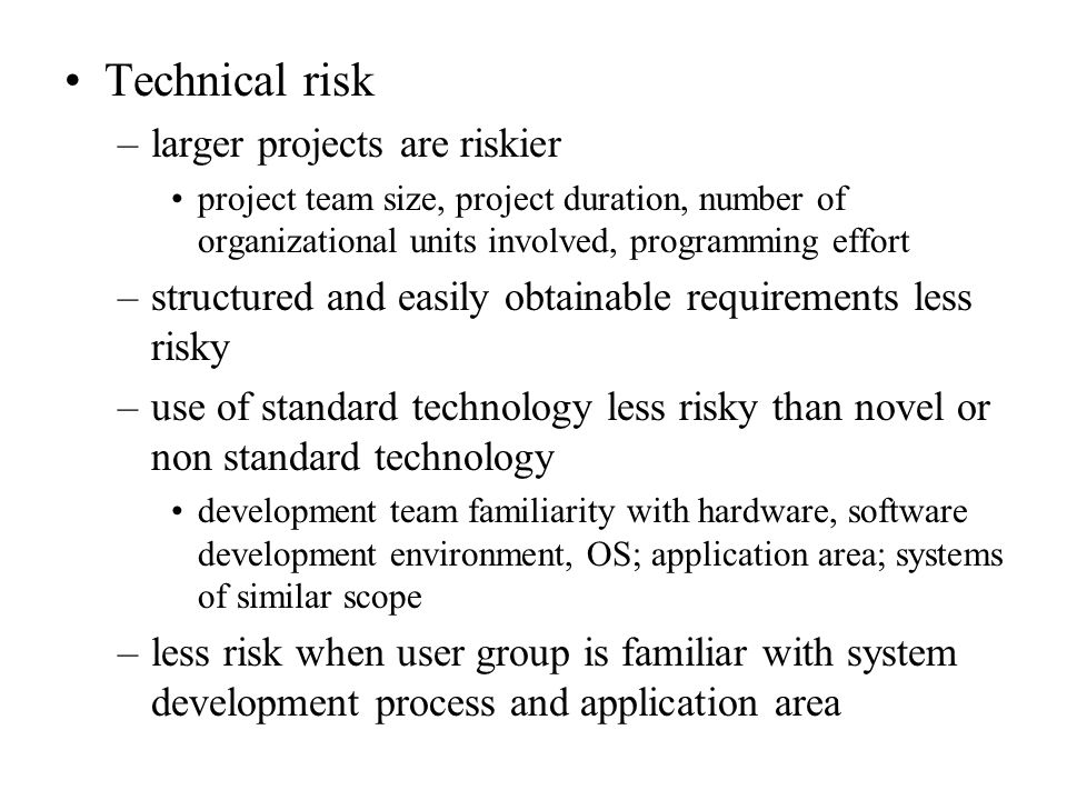 projects risks which affect schedule or resources information technology essay A guide to the project management body of knowledge (pmbok guide) is a recognized standard for the project management profession a standard is formal document that describes established norms, methods, processes, and practices.