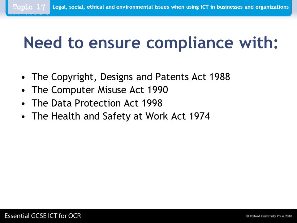 ict data protection computer misuse a Data protection act and computer misuse act within the data protection act, the people data about are called data subjects report for ict systems used in.